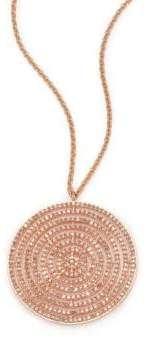 Astley Clarke Icon Light Grey Diamond& 14K Rose Gold Aura Long Large Pendant Necklace
