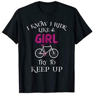Funny Road Mountain Bike Cyclist Biker Shirt For Women Girls