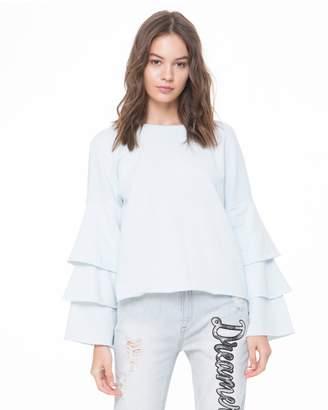 Juicy Couture Ruffle Sleeve Sweatshirt
