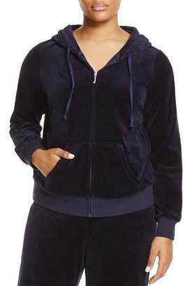 Juicy Couture Black Label Plus Black Label Robertson Velour Zip Hoodie -  100% Exclusive 1649fd8c8bd4