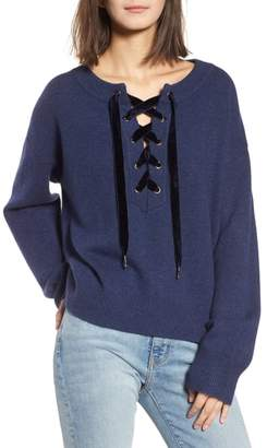 Rails Olivia Lace-Up Sweater