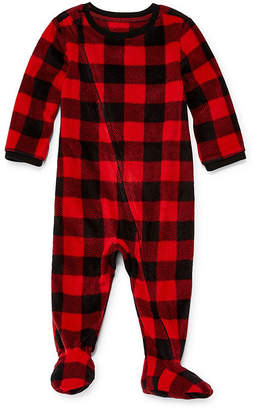 Co North Pole Trading Company Plaid 1 Piece Footed Pajama -Baby Unisex