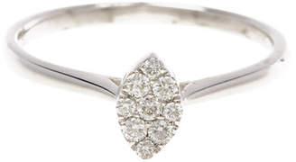 Bony Levy 18K White Gold Diamond Marquise Ring - 0.14 ctw - Size 6.5