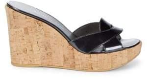 Stuart Weitzman Overit Leather Wedge Sandals
