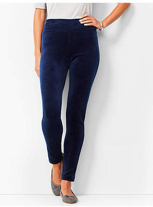 Talbots High-Waist Velour Leggings