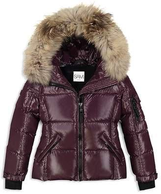 74073663cd2 Girls  Fur-Trimmed Down Jacket - Big Kid