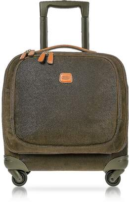 Bric's Life Olive Green Micro Suede Small Pilot Cabin Spinner