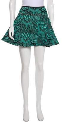 Jay Ahr Flounce Mini Skirt