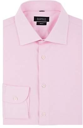 Barneys New York Men's Piqué-Effect Cotton Poplin Shirt