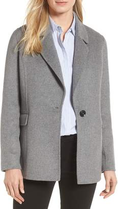 Badgley Mischka Collection Double Face Wool Blend Blazer