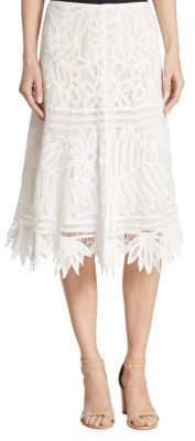 Polo Ralph Lauren Cotton Lace Midi Skirt $345 thestylecure.com