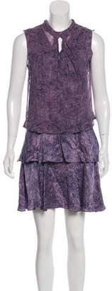 Rebecca Taylor Silk Abstract Print Mini Dress w/ Tags
