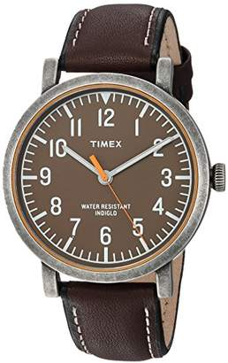 Timex Unisex TWH3Z1810 Originals Oversized Leather Strap Watch