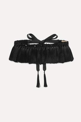 Johanna Ortiz We Are Human Embellished Tasseled Belt - Black