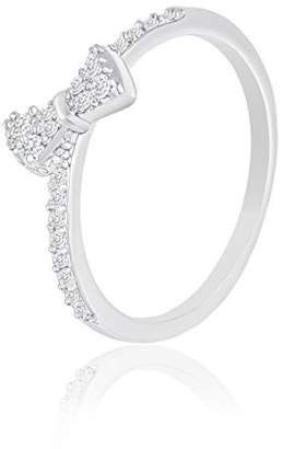 ORROUS Legacy Collection 18k Gold Plated Cubic Zirconia Bow Ring