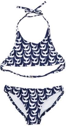Milly Minis MillyMilly Cabana Sailboat Print Halter Bikini
