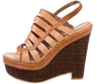 Elizabeth and James Cage Platform Wedge Sandals