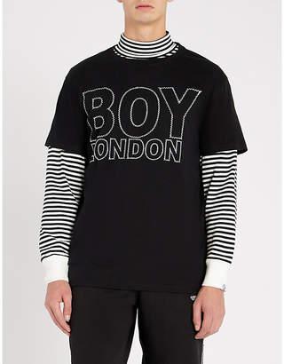 Boy London London Suture cotton-jersey T-shirt