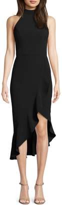 Xscape Evenings Halterneck Ruffled Sheath Dress