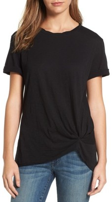 Petite Women's Caslon Knotted Tee $29 thestylecure.com