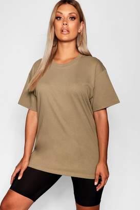 boohoo Plus Oversized Jersey Tshirt