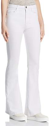 Hudson Holly High Rise Flare Jeans in White