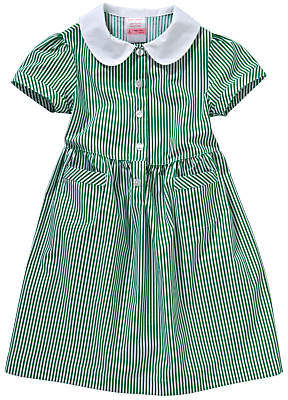 John Lewis & Partners School Striped Summer Dress, Green