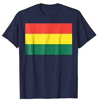 Flag of Bolivia T-shirt Tee Tees T Shirt Tshirt