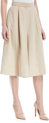 Co Cotton-Linen Knee-Length Culottes