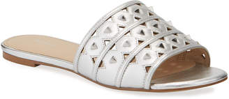 Botkier Maeva Cutout Studded Leather Slide Sandals