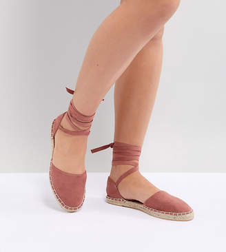 New Look Wide Fit Ankle Tie Espadrille
