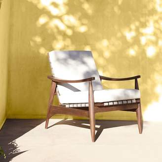 west elm Mid-Century Outdoor Show Wood Lounge Chair