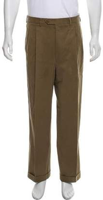 Luciano Barbera Pleated Twill Pants