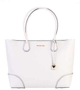 Michael Kors White Mercer Gallery Large Bag