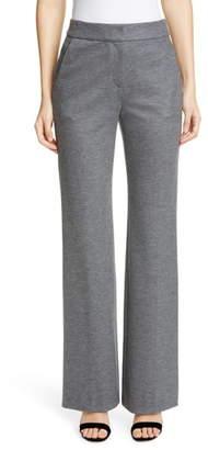 St. John Emma Flare Leg Melange Jersey Pants