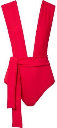 Haight - Band Tie-waist Swimsuit - Red