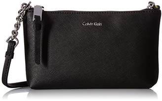 Calvin Klein Women's Hayden Saffiano Leather Crossbody