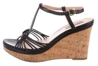 Paul Smith Leather Platform Wedge Sandals