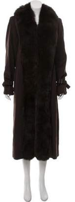 Max Mara Fur-Trimmed Camel Hair Coat Fur-Trimmed Camel Hair Coat