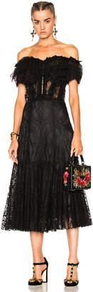 Dolce & Gabbana Off Shoulder Lace Dress