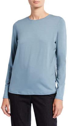 Eileen Fisher Jersey Crewneck Long-Sleeve Tee