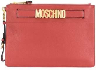 Moschino medium logo pouch