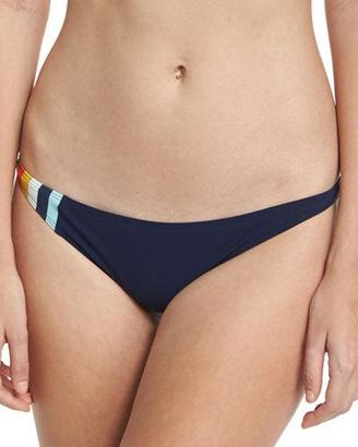 Tory Burch Soul Stripe Hipster Swim Bottom, Blue $95 thestylecure.com