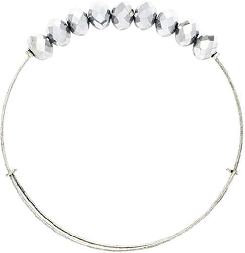 Gray Crystal Adjustable Bangle