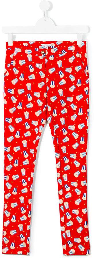 Little Marc JacobsLittle Marc Jacobs popcorn print trousers