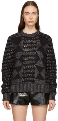 Saint Laurent Black Pattern Lurex Sweater