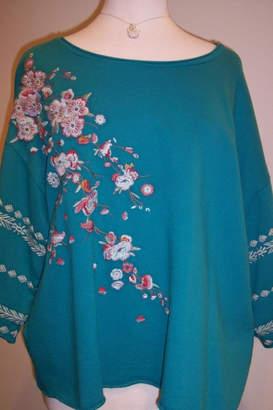 Johnny Was Collection Noriko Embroidered Sweatshirt
