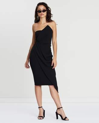 Missguided Bandeau Origami Midi Dress
