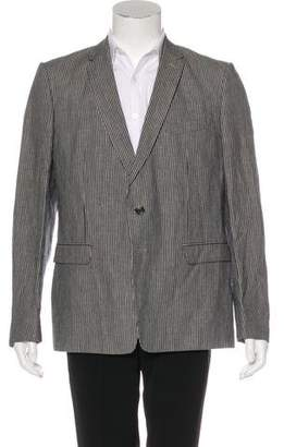 Dries Van Noten Striped Linen-Blend Blazer