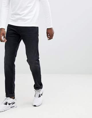 Replay Anbass slim stretch jeans in washed black